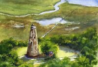 Bald Head Lighthouse North Carolina Old Baldy Watercolor Art Notecards