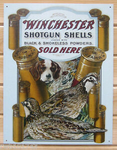 cool garage signs Winchester Shotgun Shells pleasant hunting metal tin sign