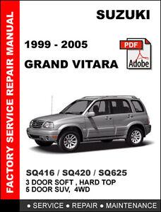 suzuki grand vitara 1999 2005 ultimate factory oem service repair rh ebay com