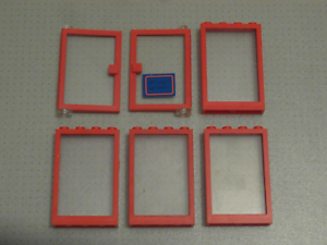 1x4x6 Studs 6 Tan Doors and Windows with Clear Glass GMT62 Lego