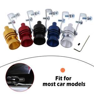 Universal Turbo Sound Color Auto Muffler Exhaust Pipe Whistle Simulator S//M//L//XL