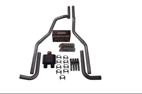 "15-18 Chevy GMC 1500 2.5/"" Dual Exhaust Flowmaster Super 10 Side Exit Slash Tip"