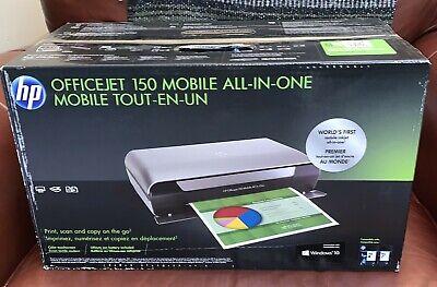 Brand New Hp Officejet 150 Portable Mobile Inkjet All In One Printer W Battery Ebay