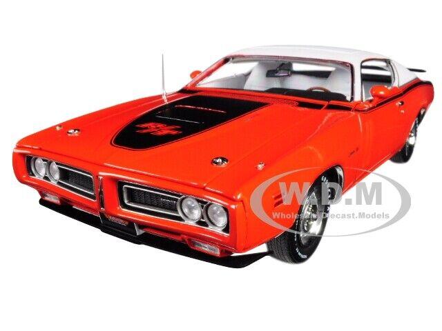 seguro de calidad 1971 Dodge Cochegador R T con techo corrojoizo Edición Limitada Limitada Limitada mcacn Naranja 1 18 por Autoworld AMM1148  minorista de fitness