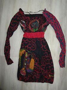 Top Zustand Desigual Kleid Langarm Gr Xs 34 Stoffkleid Ebay
