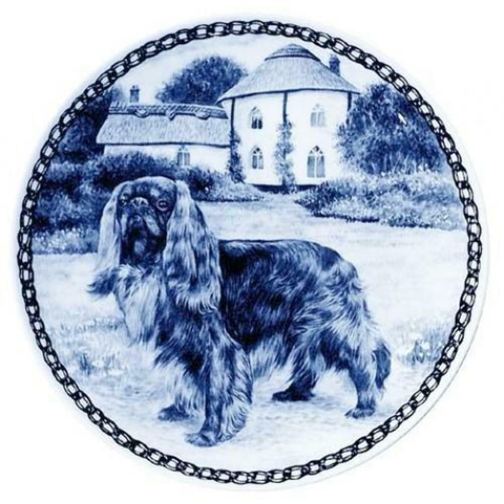 King Charles Spaniel - Ruby - Dog Plate made in Denmark from the finest European