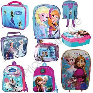 048064ab1bf DISNEY-FROZEN-SCHOOL-BAGS-LUNCH-TROLLEY-BAG-BACKPACKS-
