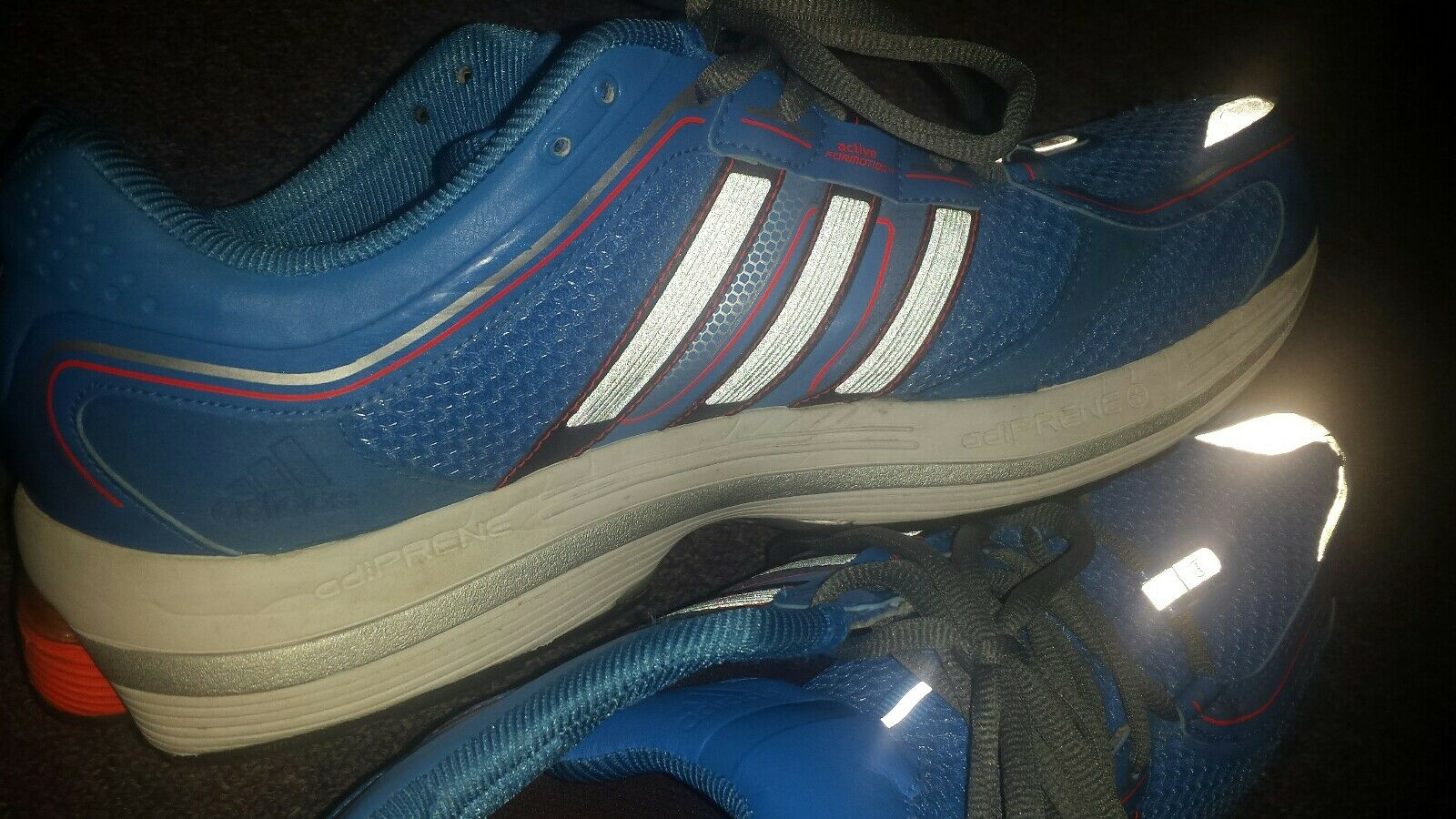 mens running shoes Adidas RIDE 4 Adiprene soles used US 14 active formotion BLUE