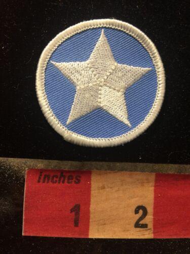 WHITE STAR ON LIGHT BLUE 81D4 Patch