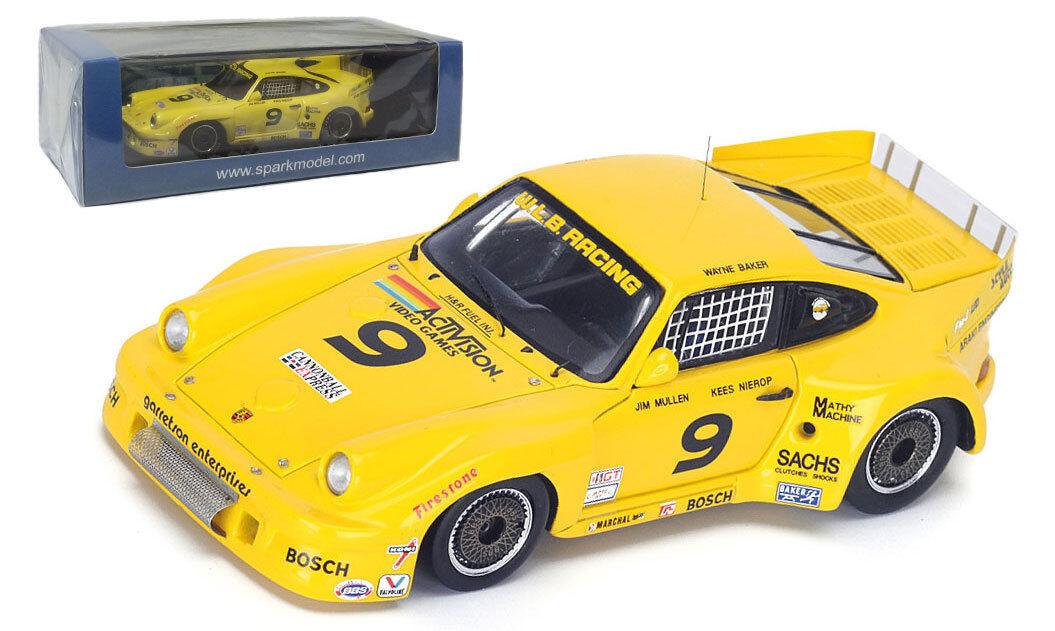 Spark 43SE83 Porsche 934  9 Winner 12H Sebbague  1983 - Baker Mullen  1 43 Scale  Envoi gratuit pour toutes les commandes