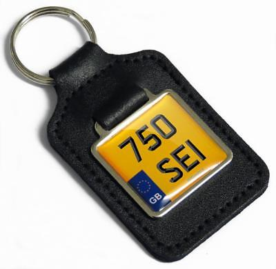 750 SEI GB Private Reg Number Plate Leather Keyring for BENELLI 750SEI Parts NOS
