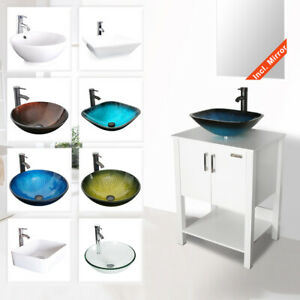 24-034-Bathroom-Vanity-Cabinet-W-Mirror-Vessel-Sink-Faucet-Drain-Combo-White