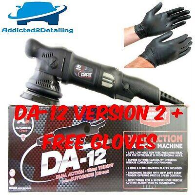 AUTOBRITE DIRECT DA12 NEW VERSION 2 DUAL ACTION BLACK POLISHING MACHINE POLISHER