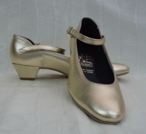 Gold Tic Tac Toes Julie Square Dance Shoe NIB!