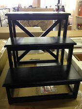 Pottery Barn Phoebe black Nightstand bedside rhys coffee sofa step stool table
