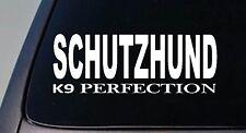 """Schutzhund German Shepherd 6"""" sticker decal sticker malinois rottweiler k9 Dog"""