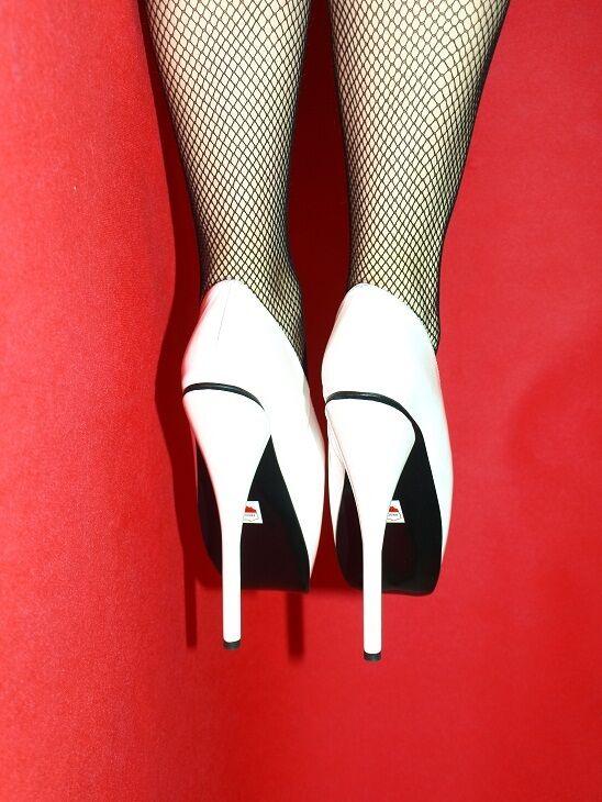 High heels, pumps leder ballet-weiß leder pumps  producer Poland -heels 21cm-grobe 37-47 ebcf73