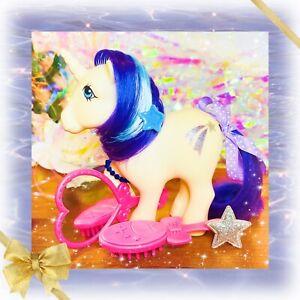 ❤️My Little Pony MLP G1 Vtg 1983 Unicorn GLORY White Purple Blue Shooting Star❤️