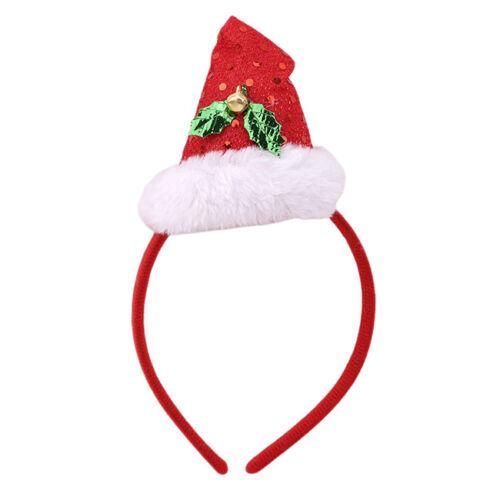 Womens Mens Santa Hat Headband Christmas Fancy Dress Xmas Costume Party CB