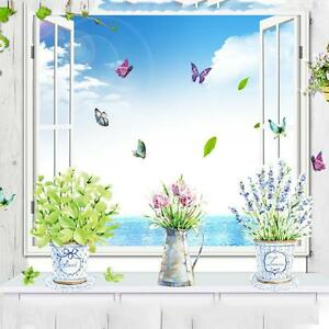 Image Is Loading Home Kitchen Glass Bathroom Decor Potted Flower Pot