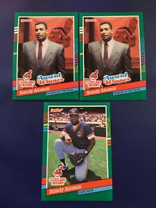1991-Donruss-489-693-SANDY-ALOMAR-JR-Lot-3-A-L-Rookie-of-The-Year-Indians