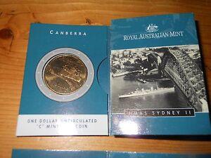 2000 Australia $1 UNC Coin HMAS Sydney Ship /'C/' Mintmark Coin