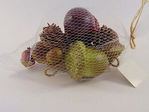 Details About Green Burgundy Acorns Pine Cones Autumn Harvest Fall Decoration Halloween