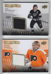 2014-15-UD-TRILOGY-LUC-ROBITAILLE-JERSEY-TRYPTICHS-Game-Used-Upper-Deck-Kings