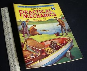 Practical Mechanics Mag. Modelling Crafts Engineering Projects Feb 1953 Vintage