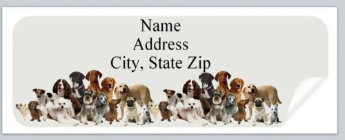 p 87 Personalized Address labels Dogs Buy 3 get 1 free