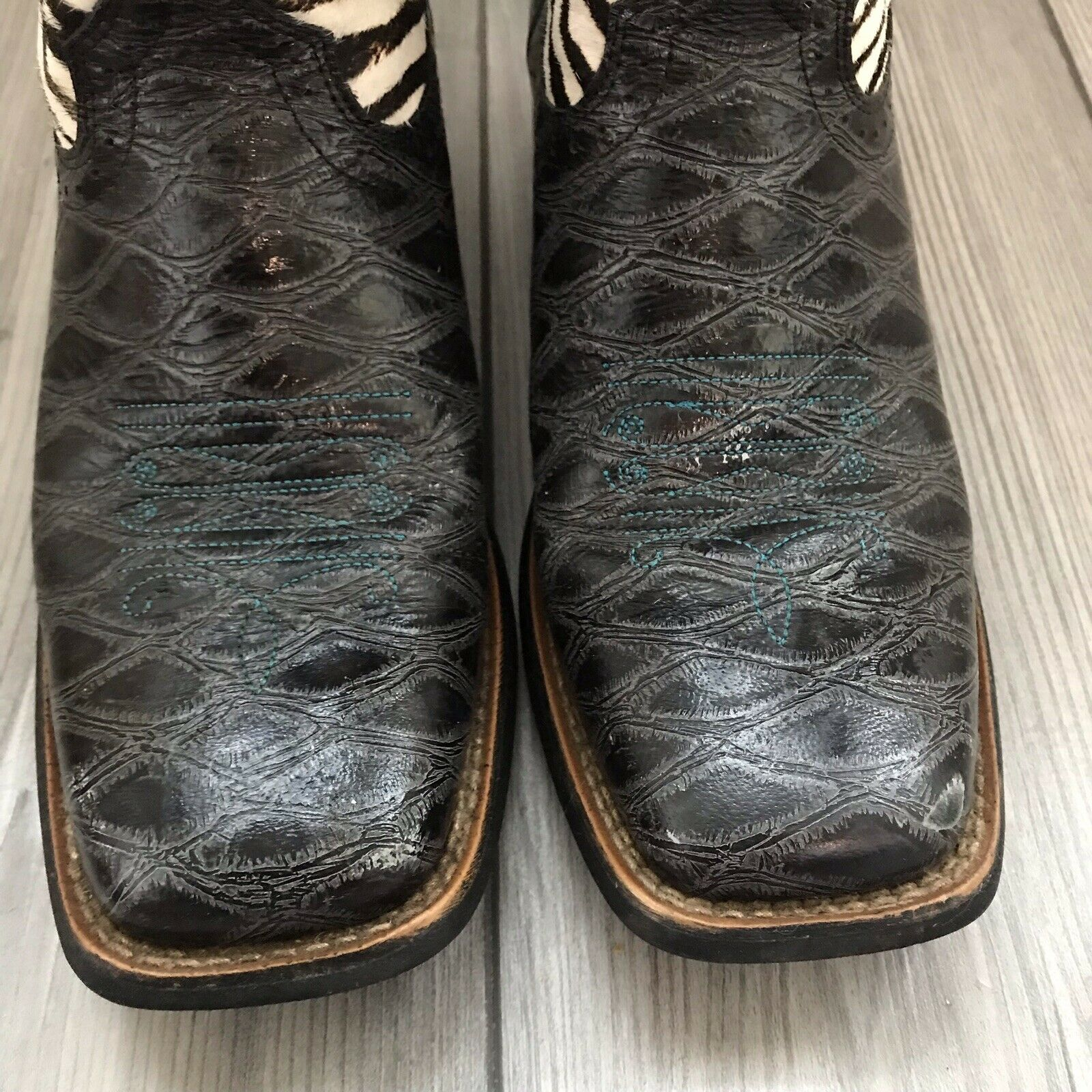 Ariat Women's Quickdraw Western Boots Anteater Ze… - image 3