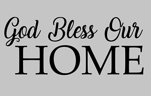God-Bless-Our-Home-Wall-Decal-Religious-Christian-Vinyl-Decor-Sticker-Removable