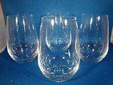 Set of (4) Crystal SCHOTT ZWIESEL 16 OZ STEMLESS WINE GLASSES 1B