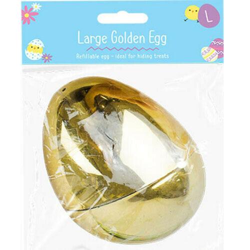 Easter Large Golden Egg Refillable 8x6.8cm Easter Basket Decor Kids Art /& Craft