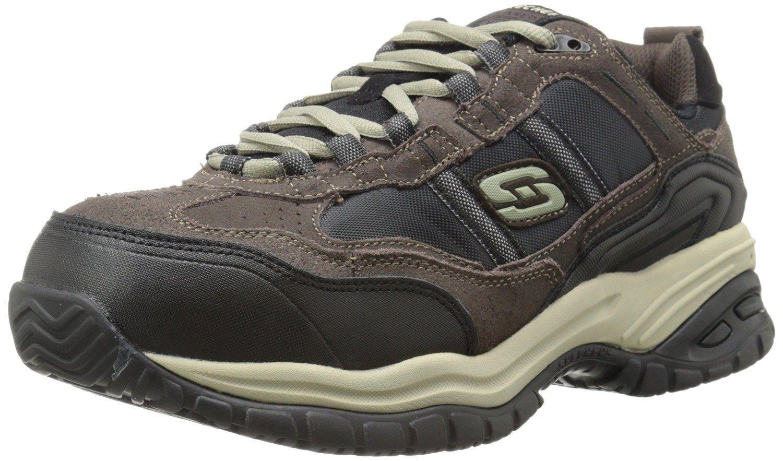 77013 Skechers Men's Composite Toe SOFT STRIDE-GRINNELL Work BRBK Brown Black