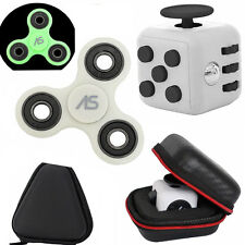 Glow in  Dark Fidget Spinner + Fidget Cube Desk Toy + Case Best Stress Reducer