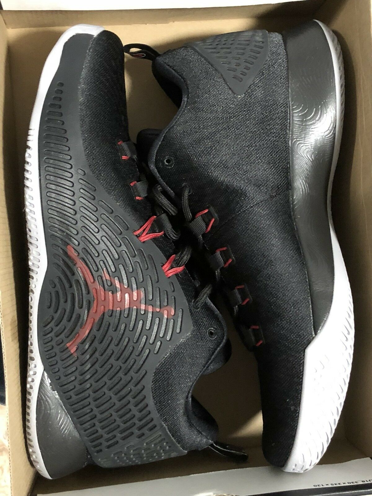 Nike Air Jordan CP3.X Men's Basketball shoes Black Gym Red Wolf Grey Size 11.5