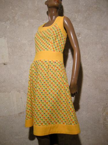Vero Kleid 70s 38 Abito Vestito '70 1970 Vintage 40 Chic SUBAEE
