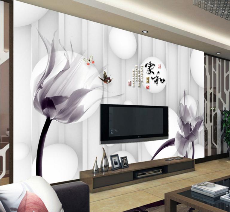 3D Petal Image 4016 Wallpaper Murals Wall Print Wallpaper Mural AJ WALL UK Lemon