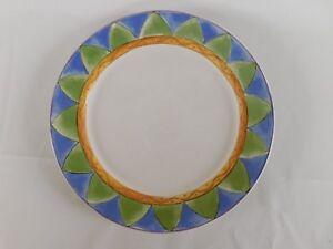 Sango Sweet Shoppe Almond Torte Brown Blue Green Rim White Dinner Plate