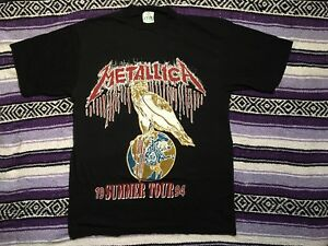 Metallica Vintage 1994 de de Camiseta verano Tour 0BqTwZ1