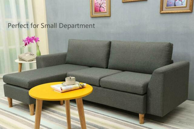 Miraculous Small Sectional Sofa L Shaped Couch With Reversible Chaise Sofa With Ottoman Cjindustries Chair Design For Home Cjindustriesco