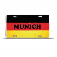 German Flag Munich License Plate Germany Auto Tag
