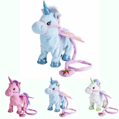 New Design Magical Unicorn Plush Soft Toy Walk Talk Girls Lovely Doll For Kids