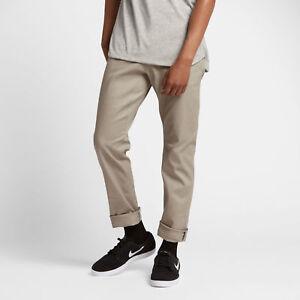 0fafeeae540c29 Nike SB FTM Mens Chino Trousers 28 S Khaki Brown Loose Casual ...