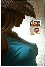 Lonestar Beer Cowgirl In Blue Top Refrigerator / Tool Box Magnet