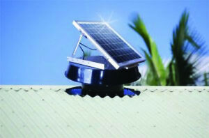 SOLAR-POWERED-ROOF-VENTILATION-ATTIC-EXHAUST-FAN-SW2100-RAF-amp-4-EAVES-VENT