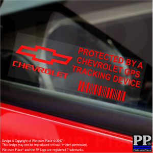 5-x-RED-Chevrolet-GPS-Tracking-Device-Security-Stickers-Car-Alarm-Tracker