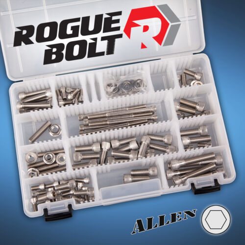 SMALL BLOCK CHEVY SBC VORTEC STAINLESS ENGINE ALLEN BOLT KIT 062 096 HEADS CARB