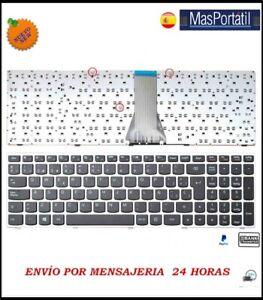 Tastiera-Spagnolo-Nuovo-Portatile-Lenovo-Ideapad-B50-30-B50-45-Argento-Grigio